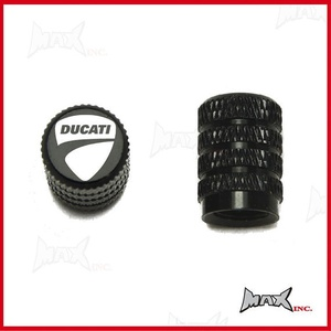 Set Of 2 DUCATI Logo Tire Valve Caps (SKU-17835)