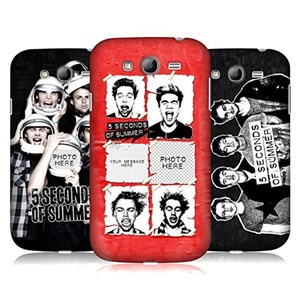 Custom Customized Personalized 5 Seconds Of Summer Group Hard Back Case for Samsung Galaxy Grand I9080