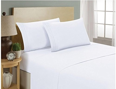 Comfort Bed Fitted Sheet 700 TC White SOLID Cal King Size With 19