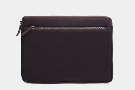 Cecilia Gallery Espresso Waxed Cotton Apple 13 Inch Macbook Pro Retina Display Device Sleeve