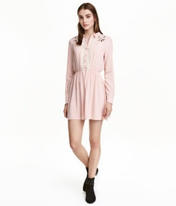 Power Pink Embroidered Dress