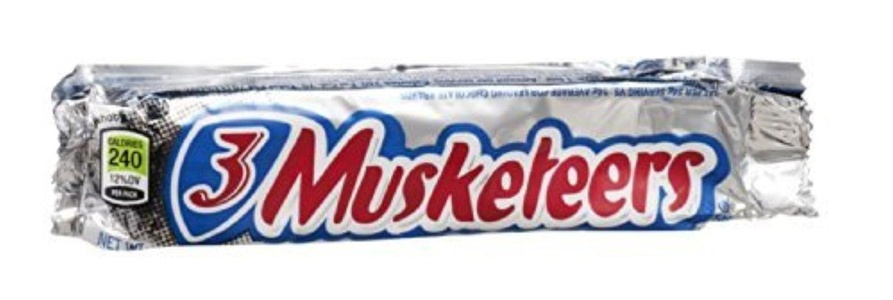 3 Musketeers Chocolate Candy Bar 1.92 oz (Pack of 36) by 3 Musketeers