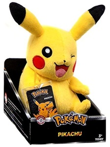 Pokemon Trainers Choice Series 2 Pikachu 8 Plush [Sitting Open Mouth, Winking] by Pokemon Black & White Toys, Games & Action Figures