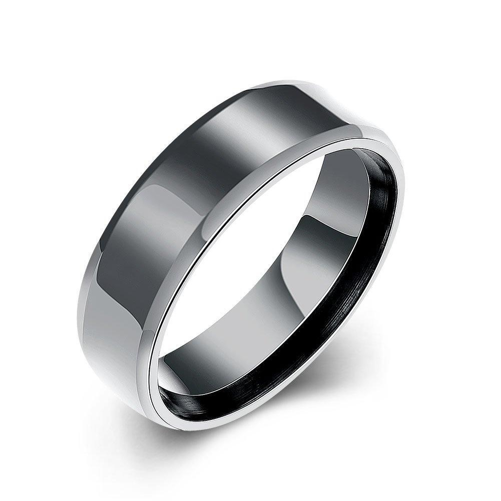 Fashion Jewelry Ring for Men Black Gold Plating by PRUNUS (9)