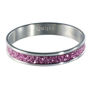 Quiges - Stacking Ring Slide-On Ring Silver 17mm
