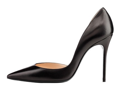 Maovii Women's Elegant Simple Style Pointed Toe Pumps High Heel Stiletto for Work Place 5 M US PU-Black