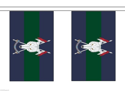 British Army Scottish & North Irish Material String Flags / Bunting 10m (33') Long With 28 Flags