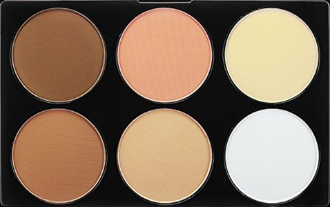 DE'LANCI Professional 6 Warm Colors Cosmetic Foundation Concealer Camouflage Contour Makeup Palette Set Face Contouring Kit by DE'LANCI