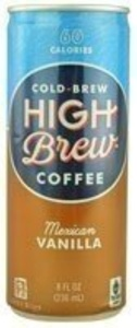 HIGH BREW COFFEE MEXICAN VNLLA, 8 OZ by High Brew