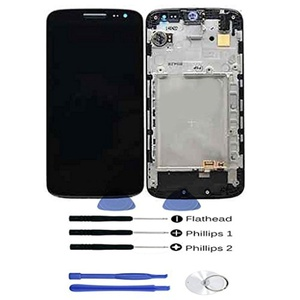 Grade A+ OEM Full Panel Lcd Display Screen Touch Digitizer Assembly Cell Phone Replacements Parts for LG G2 mini D620 D618 Black LCD With Frame with free tools