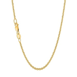 Solid 14K Yellow Gold Rolo Link Chain Necklace 2.2mm 18
