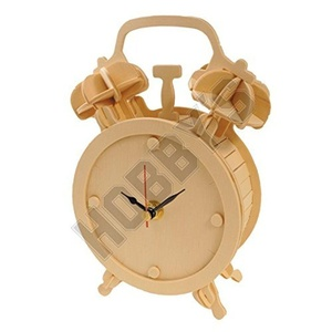 Alarm Clock: Wood Craft Assembly Wooden Construction Clock Kit by Wood Craft Assembly