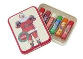 Lip Smacker? Coca-ColaTM Gift Tin Box with 6 Lip Balms in Original Flavours Coca-Cola ClassicTM Coca-Cola VanillaTM Fanta OrangeTM Fanta PineappleTM Fanta StrawberryTM and SpriteTM by Lip Smacker