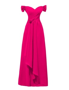KAMA BRIDAL Women's Sweetheart Evening Gowns Long Ruched Bridesmaid Dresses US22W Fuchsia