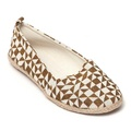 BROWN GEOMETRIC FLATS SIZE 9.5/10