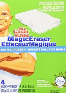Mr. Clean Magic Eraser Bath Scrubber, 4-Count (Pack of 2) by Mr. Clean