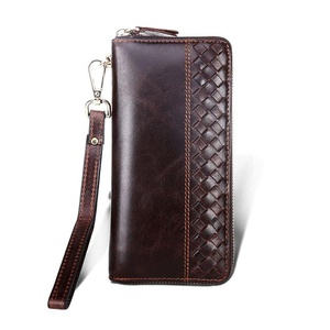 Mens Genuine Leather Long Wallet Clutch Bag Purse