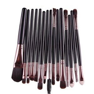 DEESEE(TM) Makeup Brush 15 pcs/Sets Eye Shadow Foundation Eyebrow Lip Brush Makeup Brushes Tool (Black)