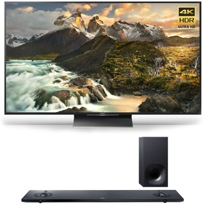 Sony XBR-65Z9D - 65-inch 4K Ultra HD LED TV w/ HT-NT5 Sound Bar Bundle includes TV and Sony HT-NT5 Sound Bar with Hi-Res Audio and Wireless Streaming