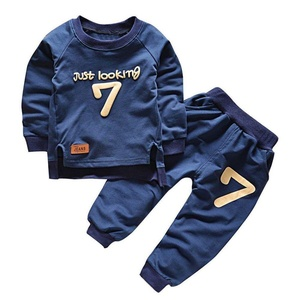 Timall Autumn Toddler Kids Baby Boy Lovely Pullover Tops+Long Pants Outfit Clothes Set