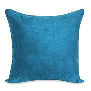 Heavy Faux Suede 20-Inch Throw Pillow in Dark Teal - Reversible