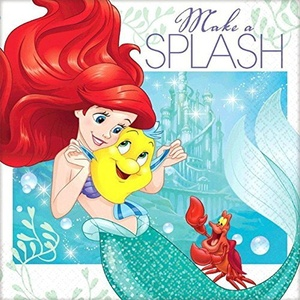 Ariel the Little Mermaid 'Dream Big' Small Napkins (16ct) by The Little Mermaid