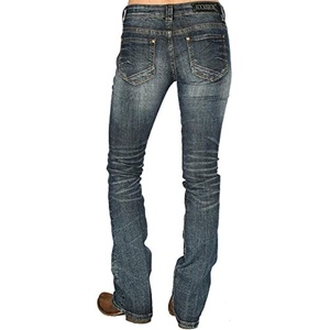 Rock N Roll Cowgirl Womens Simple Copper Rival Jean 30x38 Denim