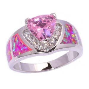 FT-Ring Pink Fire Opal & Pink Topaz Jewelry Wedding Ring For Women Engagement Wedding Bridal Rings (6)