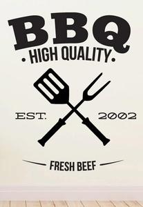 BBQ Wall Decals Stickers ID010, Black, 72