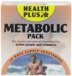 Health Plus Metabolic Pack Energy and Slimmers Daily Supplement - 28 Day Supply by Health Plus