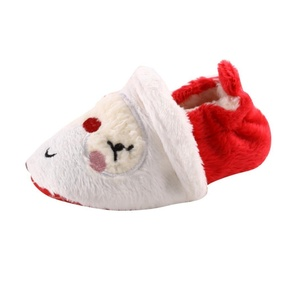 Iuhan Toddler Newborn Baby Santa Claus Soft Sole Christmas Prewalker Shoes (6~12 Month)