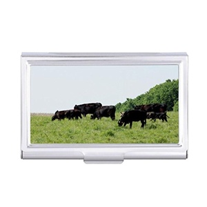 Card Holder Cattle Angus Business Card Holder