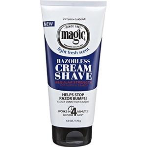 Magic Razorless Cream Shave Regular 6oz Light Fresh Scent (Pack of 2) by Magic