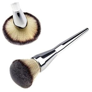 1pcs Kabuki Face Makeup Blush Powder Silver Handle Cosmetic Large Brush Kits