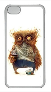 iPhone 5c case, Cute Hobo Owl iPhone 5c Cover, iPhone 5c Cases, Hard Clear iPhone 5c Covers