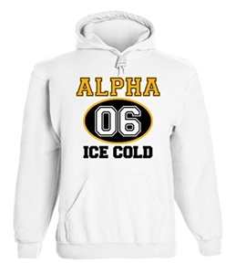 Alpha Phi Alpha Graphic Print Hoodie by Fashion Greek White Medium