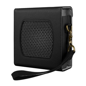 Fintie Protective Case for Bose SoundLink Color II Wireless Bluetooth Speaker - Premium Vegan Leather Carry Cover Sleeve Skins with Removable Holding Strap, Black