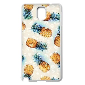 Samsung Galaxy Note 3 Case, LEDGOD Fashionable Gift DIY Pineapple White Cover Phone Case for Samsung Galaxy Note 3 Shell Phone.