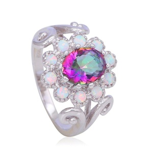 FT-Ring Charming Mystic Topaz White fire Opal Jewelry For Women Engagement Wedding Bridal Rings (7)