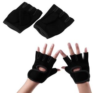 Gloves Gloves Half Finger Fitness Weight Lifting Body Build Sport Gloves For Gym Training Run gloves football boxing motorcycle nitrile women/men Black