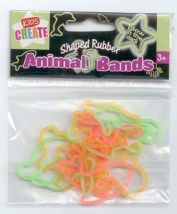 SHAPED BANDS - GLOW IN THE DARK 12PC by Glow In The Dark