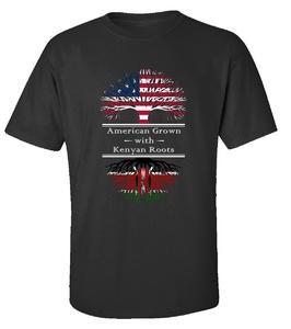 American Grown With Kenyan Roots Kenya Great Gifts - Adult Shirt L Black