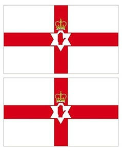 MEGA VALUE TWIN PACK Northern Ireland Hand Of Ulster Quality Supporter Fans Large Flags 5'x3' (ft) by My Planet