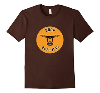 Men's Poop Here It Is T-Shirt XL Brown