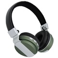 W-Thalia Over-ear Wireless Bluetooth Stereo Headphones On Ear Foldable Headset, Bluetooth Version 4.0,Powerful Bass Headsets with Detachable Stereo Audio Cable 3.5mm,TF ,FM,MIC. (Green)
