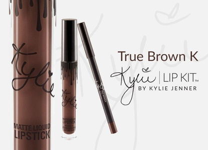 Kylie Jenner Metal Matte True Brown K Lipstick - Mini Lip Gloss