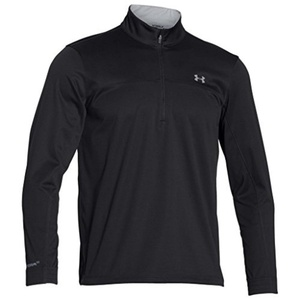 Under Armour 2015 Mens UA Elemental 1/2 Zip Golf Pullover - Black - L by Elemental 1/2 Zip