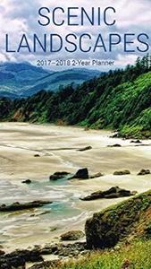 2017 - 2018 Scenic Landscapes 2-Year Pocket Planner Calendar
