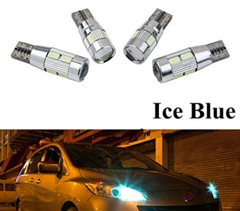 1Pair T10 5630 Width Lamp Reading Lamp Side light W5W/T10 LED Car Lights license plate lamp trunk light 10Lamp beads (Ice Blue 10Lamp beads)