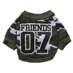 Egmy Fashion Camouflage Coat Round Neck Pet Clothes Puppy Dogs Cat Soft T-shirt Warm Cotton Spring Autumn (M)